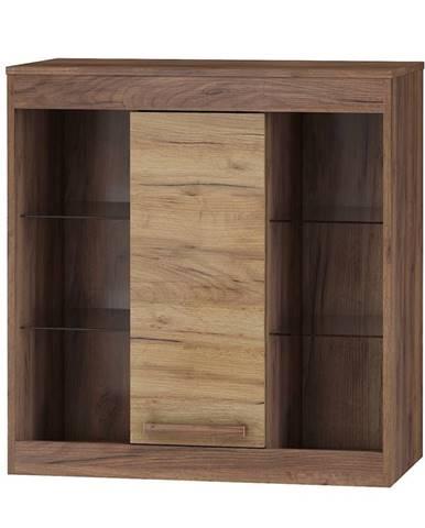 Závěsná skříňka 1D MAXIMUS 40, craft tobaco/craft zlatý