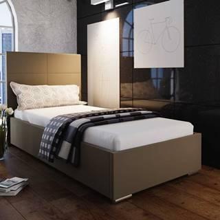 Čalouněná postel SOFIE 4 90x200 cm, hnědá látka