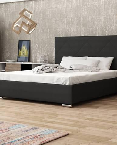Čalouněná postel SOFIE 5 180x200 cm, černá látka