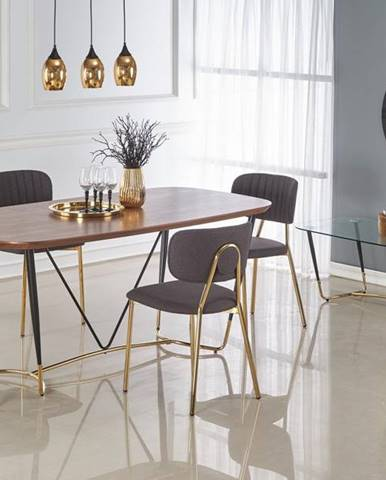 Jídelní stůl MANCHESTER, ořech/zlatá