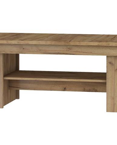 Rozkládací konferenční stolek R MAXIMUS 17, craft zlatý/craft bílý
