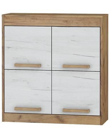Závěsná skříňka 4D MAXIMUS 41, craft zlatý/craft bílý