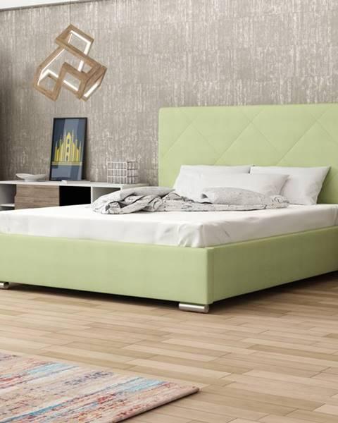 Smartshop Čalouněná postel SOFIE 5 180x200 cm, zelená látka