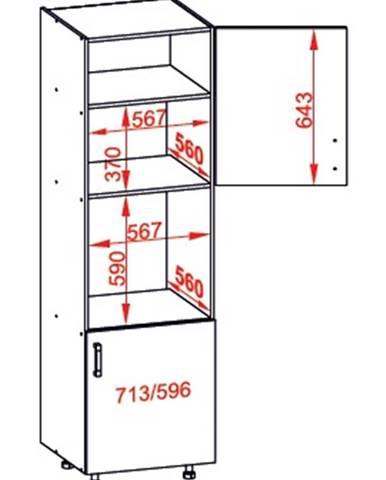 IRIS vysoká skříň DPS60/207 pravá, korpus congo, dvířka ferro