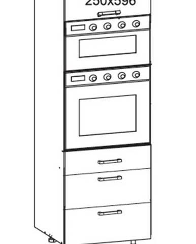 IRIS vysoká skříň DPS60/207 SAMBOX O, korpus bílá alpská, dvířka ferro
