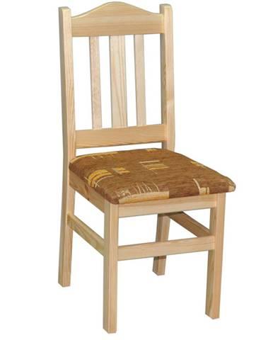 Židle čalouněná nr.2, masiv borovice, moření: ...