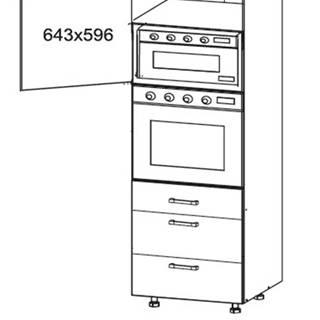 IRIS vysoká skříň DPS60/207 SAMBOX levá, korpus congo, dvířka bílá supermat