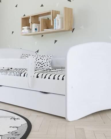 Dětská postel bez vzoru BABYDREAMS 70x140 cm, bílá - bed without mattress bez wzoru