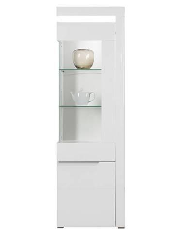 IM7 - Vysoká vitrína IRMA IM7 pravá, bílý vysoký lesk