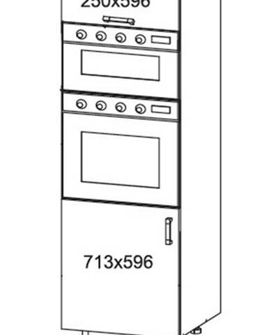 IRIS vysoká skříň DPS60/207O levá, korpus šedá grenola, dvířka ferro