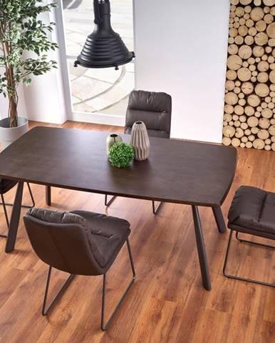 Jídelní stůl FIRMINO, ořech tmavý/grafit