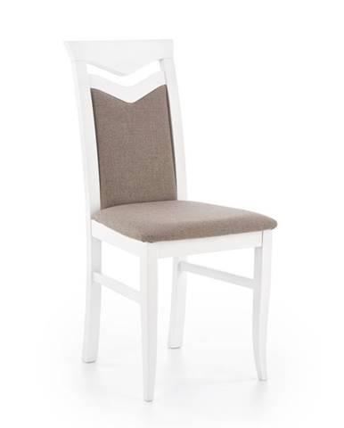 Jídelní židle CITRONE, bílá/světle hnědá