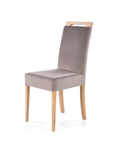Jídelní židle CLARION, světle šedá/dub medový