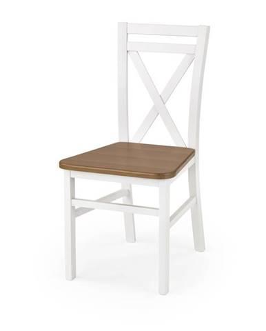 Jídelní židle DARIUSZ 2, bílá/olše