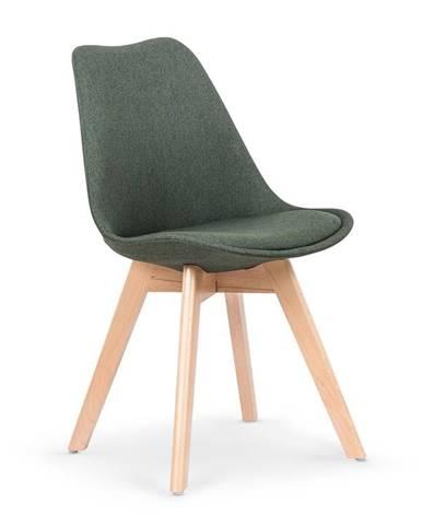 Jídelní židle K-303, tmavě zelená