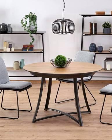 Kulatý jídelní stůl MORETTI, dub zlatý/antracit