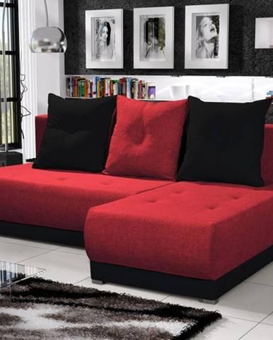 Rohová sedačka INSIGNIA 2, červená/černá