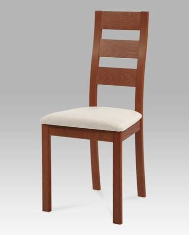 Židle BC-2603 TR3 masiv buk, barva třešeň, potah béžový