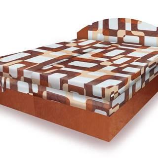 Polohovací čalouněná postel VESNA 160x200 cm, hnědá látka