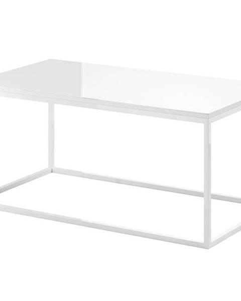 Smartshop HELIO TYP 99 konferenční stolek, bílá/bílá sklo