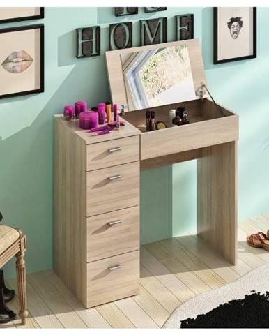 BELIN toaletní stolek, dub sonoma