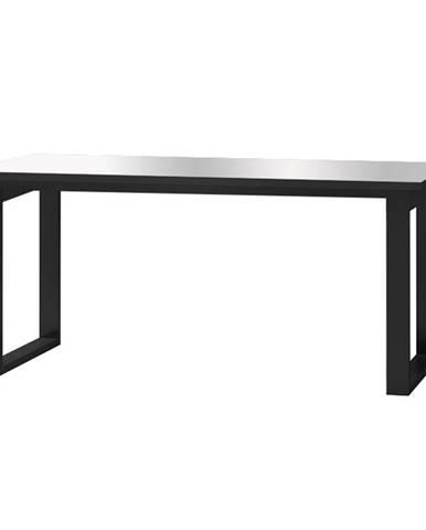 HELIO TYP 92 rozkládací stůl, černá/šedé sklo