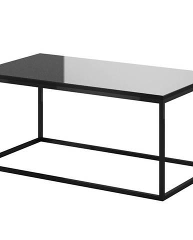 HELIO TYP 99 konferenční stolek, černá/černé sklo