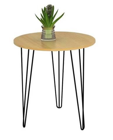 KALEB odkládací stolek, dub/černá
