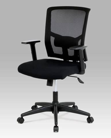 Kancelářská židle KA-B1012 BK, látka černá, houpací mechnismus