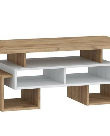 Konferenční stolek S RIO 12, craft bílý/craft zlatý