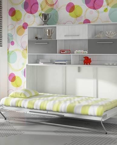 ROGER, multifunkční postel s nastavbou, craft bílý/grafit