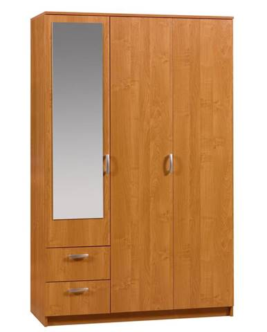 Šatní skříň VENEZIA 1 se zrcadlem, barva: