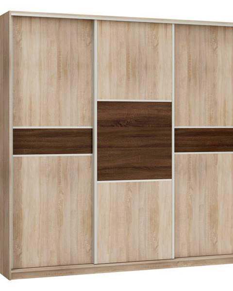 MORAVIA FLAT Šatní skříň PUERTO 220D, barva: