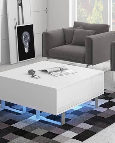 KING 8 konferenční stolek, bílá/bílý lesk