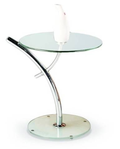 Konferenční stolek IRIS, kov/sklo