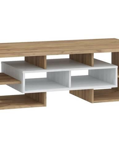 Konferenční stolek N RIO 11, craft bílý/craft zlatý