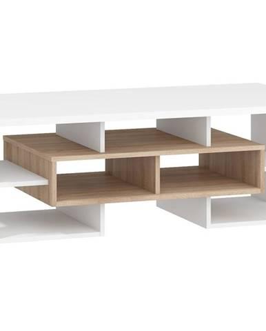 Konferenční stolek N RIO 11, dub sonoma/bílá