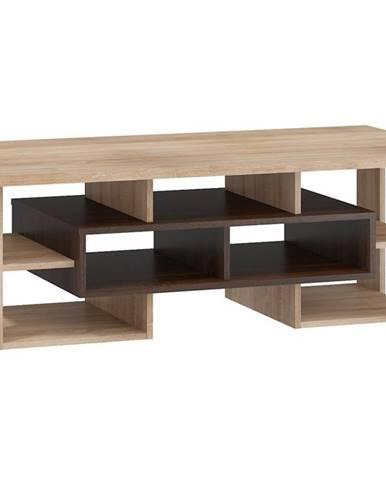 Konferenční stolek N RIO 11, dub sonoma tmavý/dub sonoma
