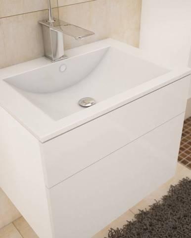 PORTO, skříňka pod umyvadlo, bílá/bílý lesk