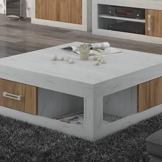 VERIN/02, konferenční stolek, craft bílý/craft zlatý