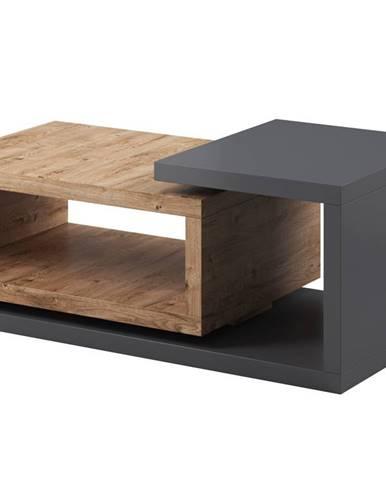 BOTA TYP 97 konferenční stolek, antracit/dub ribbec