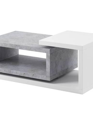 BOTA TYP 97 konferenční stolek, bílá/beton colorado
