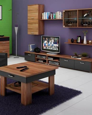 Konferenční stolek OMEGA, švestka wallis/černý lesk