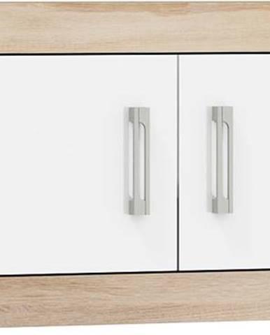 VERIN/23, závěsná skříňka 2D, dub sonoma/bílý lesk