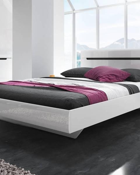 Smartshop HEKTOR postel 180x200 cm TYP 32, bílá/bílý lesk