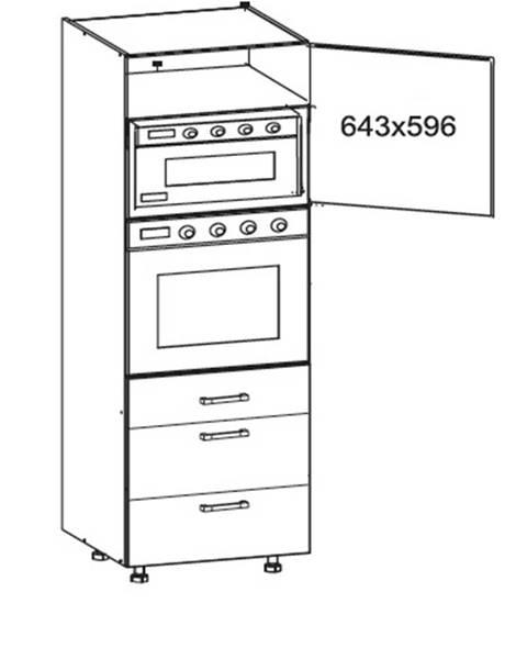 Smartshop SOLE vysoká skříň DPS60/207 SAMBOX pravá, korpus wenge, dvířka dub arlington