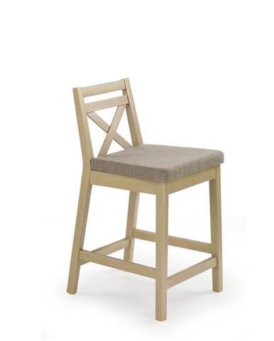 Barová židle nízká BORYS, dub sonoma
