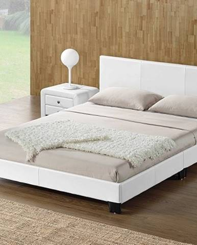 DANETA čalouněná postel s roštem 160x200 cm, bílá