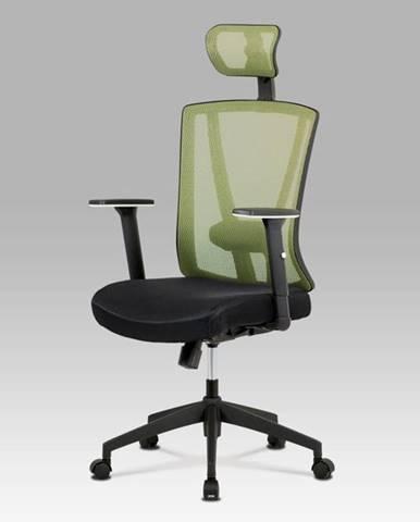 Kancelářská židle KA-H110 GRN, černá/zelená