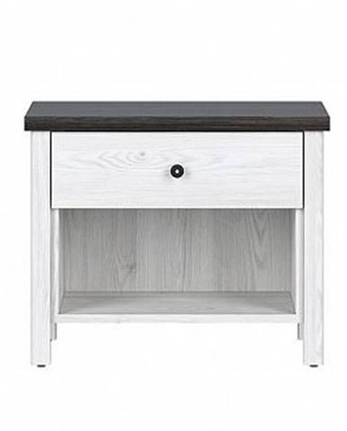 Noční stolek ANTWERPEN KOM1S/5/6, modřín sibiu/borovice larico
